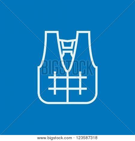 Life vest line icon.