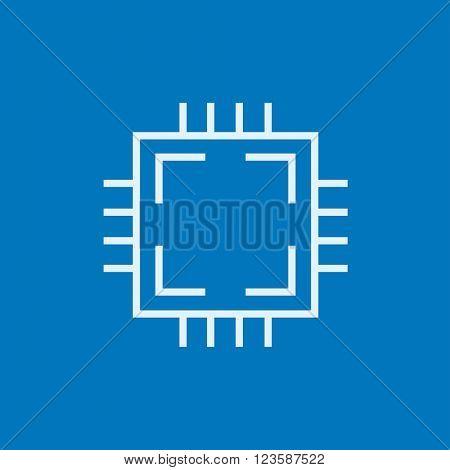 CPU line icon.