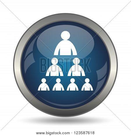 Organizational chart icon. Internet button on white background.