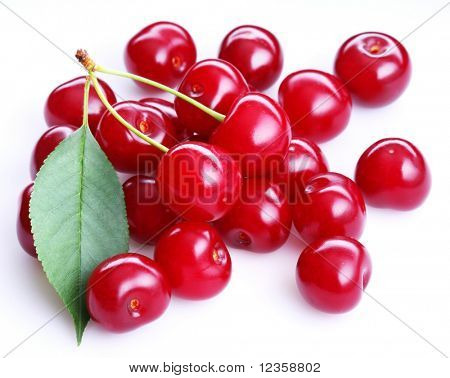Cherry; object on a white background