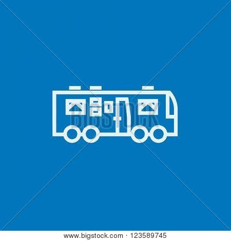 Motorhome line icon.