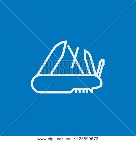 Multipurpose knife line icon.