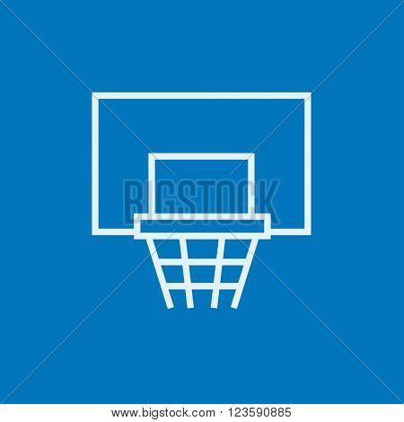 Basketball hoop line icon.