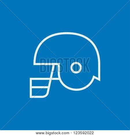Hockey helmet line icon.