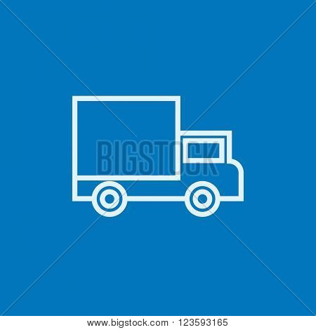 Delivery van line icon.