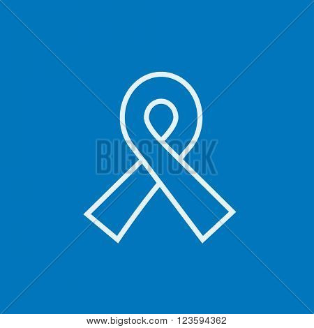 Ribbon line icon.