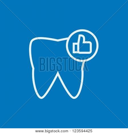 Healthy tooth line icon.