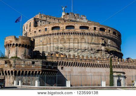 italy, rome, castel sant'angelo