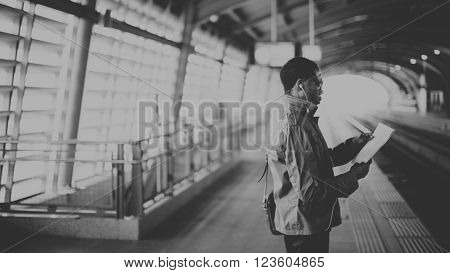 Business Man Traveling Corporate  City Concept