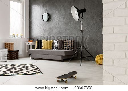 Hipster Style, Grey  Living Room