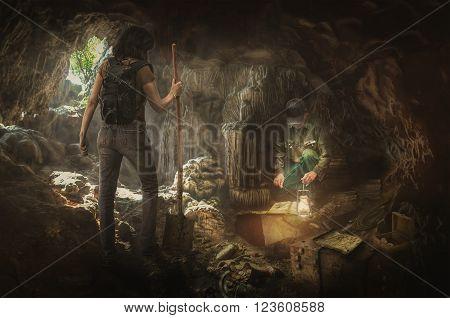 treasure hunters in search of the true treasures
