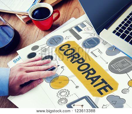 Corporate Connection Collaboration Teamwork Concept