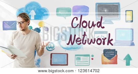 Cloud Network Computing Digital Information Concept