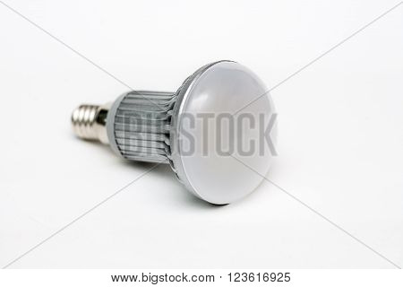 Environment fiendly lamp on white on white background