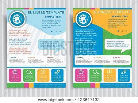 Palette Symbol On Vector Brochure Flyer Design Layout Template