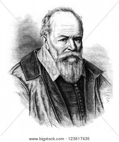 President Jeannin, vintage engraved illustration. Magasin Pittoresque 1876.