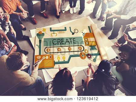 Create Innovation Imagination Development Ideas Concept