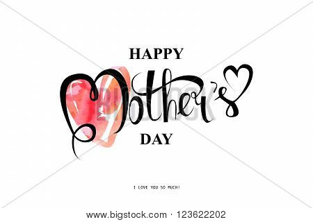 Happy Mothers Day Typographical Design Card