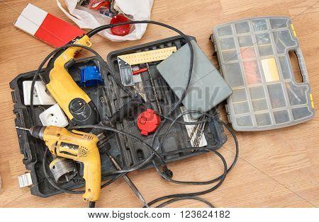 Tool Box And Set Of Screws