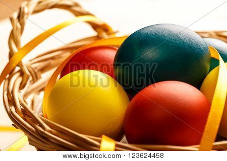 Easter Colorful Boiled Eggs
