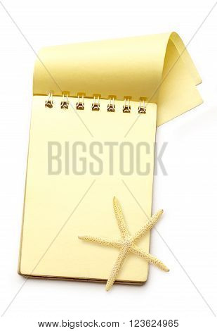 Yellow Notepad With Sea Star