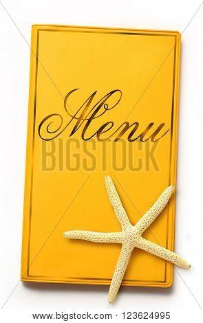 Menu Book With Sea Star