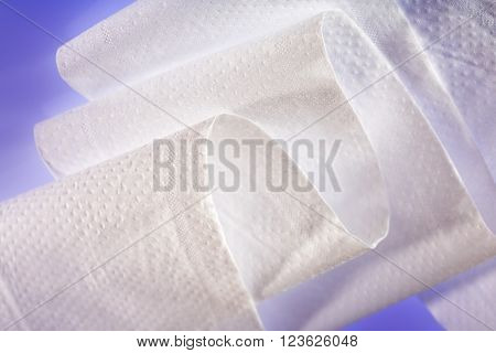 White Toilet Paper In Closeup