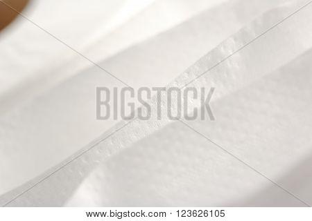 White Toilet Paper In Closeup