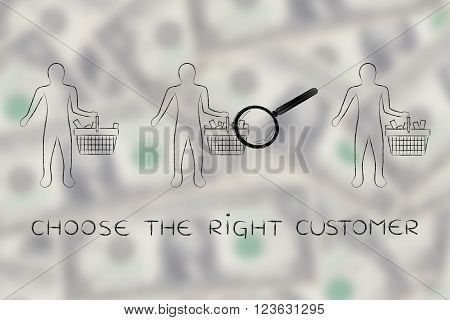 Analyzing Clients' Shopping Baskets, Choose The Right Customer