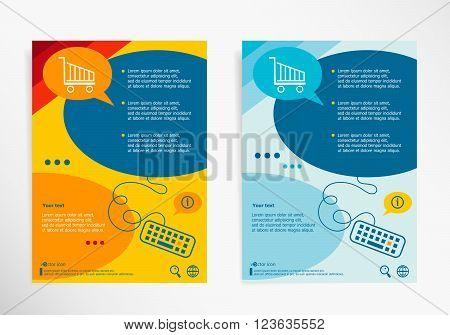 Shopping Cart Symbol On Chat Speech Bubbles