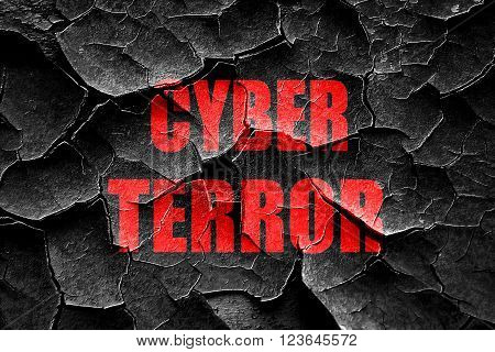 Grunge cracked Cyber terror background with some smooth lines