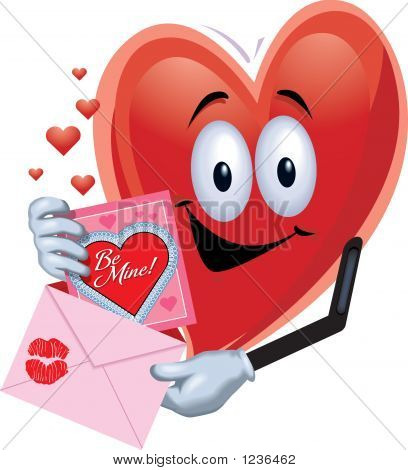 Heart Man With Card