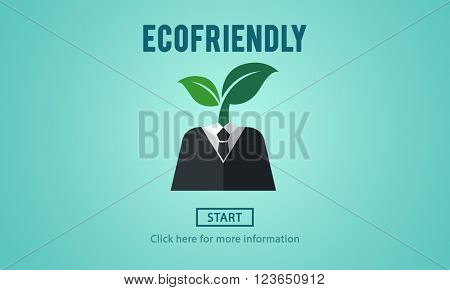 Ecofriendly Ecological Environmental Growing Concept
