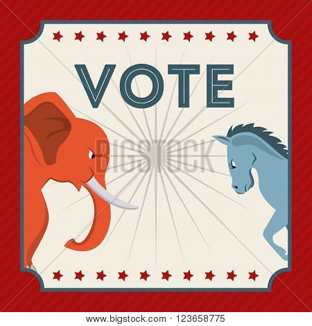 Election Day design, vector illustration eps10 graphic