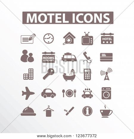 motel hotel icons