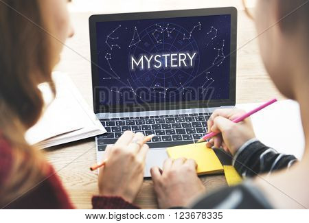 Mystery Planets Horoscope Astrology Concept poster
