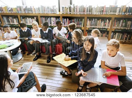Education School Student Reading Library Learning Concept