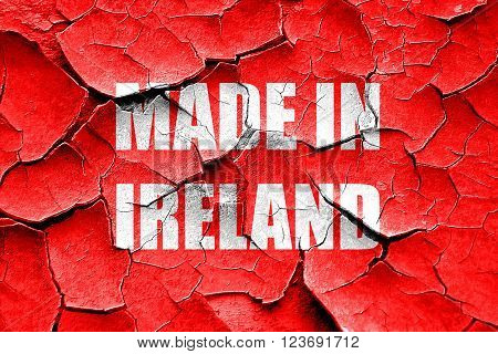 Grunge cracked Made in ireland with some soft smooth lines