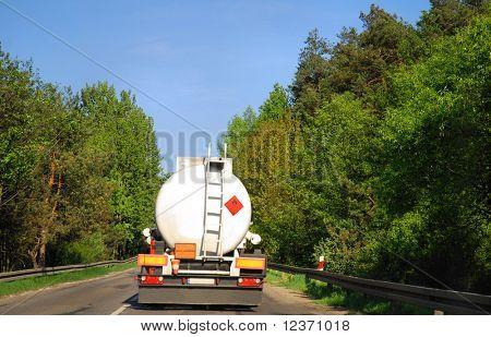 tanker truck on road