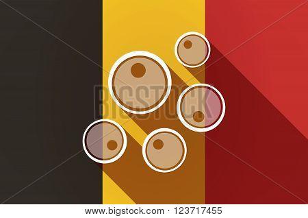 Long Shadow Belgium Flag With Oocytes