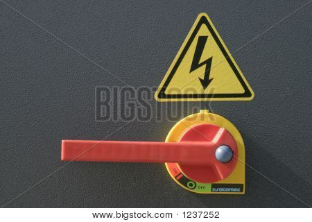 heavy duty outdoor electrical switch with handle