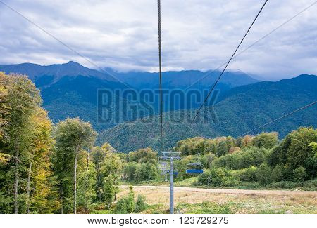 The Cable Car To The Ski Resort Rosa Khutor.