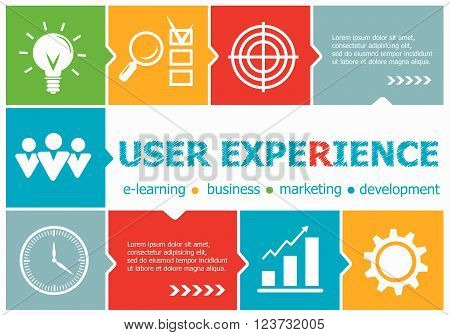 User Experience Design Illustration Concepts For Business, Consulting, Management, Career.