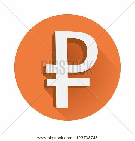 This is an illustration of rouble symbol