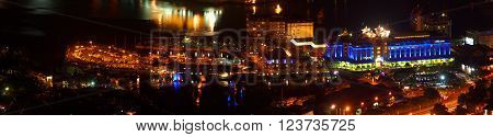 Capital city Port Louis by light and by night
