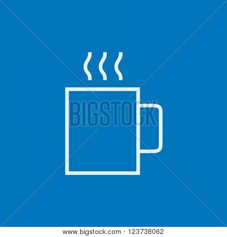 Mug of hot drink line icon.
