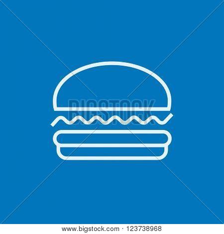 Hamburger line icon.