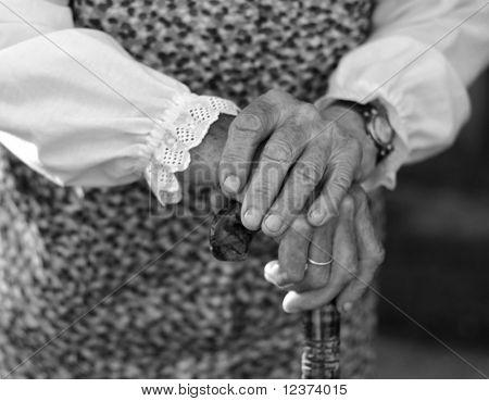 old hands of a woman