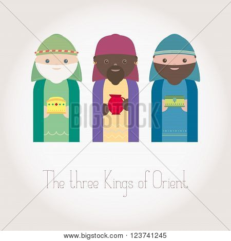 The three Kings of Orient wisemen vector
