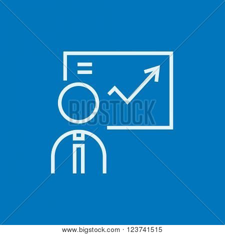 Businessman with infographic line icon.